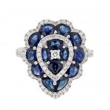 Sapphire & Diamond Pear Shape Ring 2.75ct