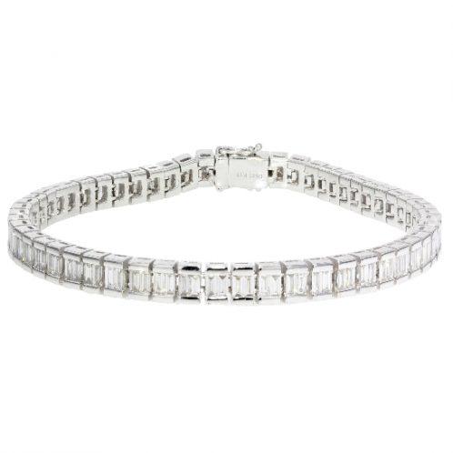 Emerald Cut Diamond Bracelet 5.48ct