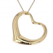 18ct Yellow Gold Tiffany Heart Pendant