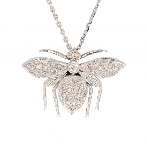 Handmade Diamond Insect Pendant 0.53ct