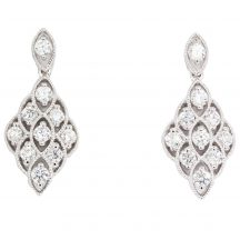 Diamond Cluster Earrings 1.40ct