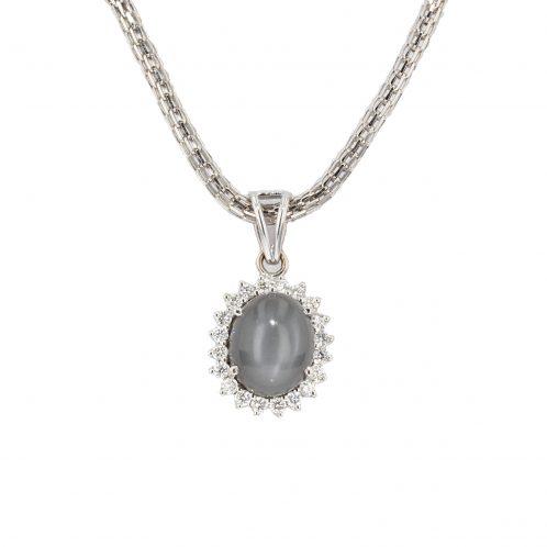 Moonstone And Diamond Pendant 3.00ct