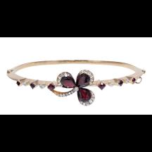 Garnet and Diamond Rose Gold Bracelet