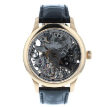 York Fort De Lippe 18ct Rose Gold Skeleton Dial