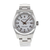 Rolex Oyster Perpetual 26mm White Roman Dial