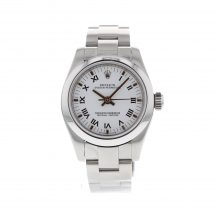26mm Rolex Oyster Perpetual White Roman Dial